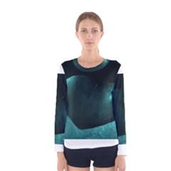 Teal Heart Women s Long Sleeve T Shirts