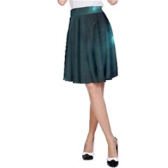 Teal Heart A-Line Skirts