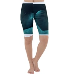 Teal Heart Cropped Leggings