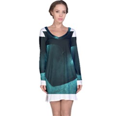 Teal Heart Long Sleeve Nightdresses