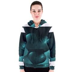 Teal Heart Women s Zipper Hoodies