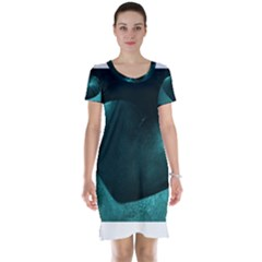 Teal Heart Short Sleeve Nightdresses