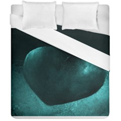 Teal Heart Duvet Cover (double Size)