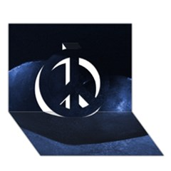 Blue Heart Collection Peace Sign 3d Greeting Card (7x5)