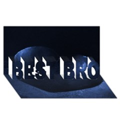 Blue Heart Collection BEST BRO 3D Greeting Card (8x4)