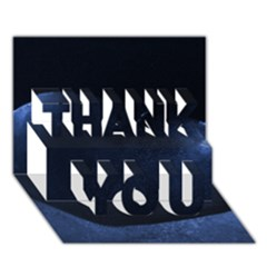 Blue Heart Collection Thank You 3d Greeting Card (7x5)