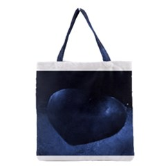 Blue Heart Collection Grocery Tote Bags