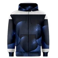Blue Heart Collection Men s Zipper Hoodies