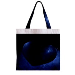 Blue Heart Collection Zipper Grocery Tote Bags