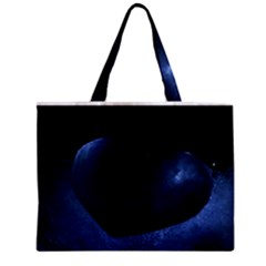 Blue Heart Collection Zipper Tiny Tote Bags