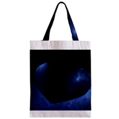 Blue Heart Collection Zipper Classic Tote Bags