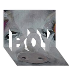 Piggy No. 1 BOY 3D Greeting Card (7x5)