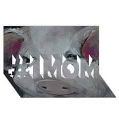 Piggy No. 1 #1 MOM 3D Greeting Cards (8x4)