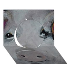 Piggy No  1 Circle 3d Greeting Card (7x5)