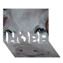Piggy No. 1 HOPE 3D Greeting Card (7x5)
