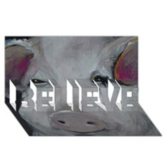 Piggy No. 1 BELIEVE 3D Greeting Card (8x4)