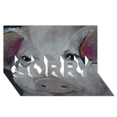 Piggy No  1 Sorry 3d Greeting Card (8x4)
