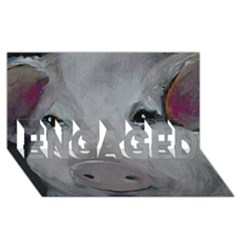 Piggy No. 1 ENGAGED 3D Greeting Card (8x4)