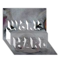 Piggy No  1 Work Hard 3d Greeting Card (7x5)
