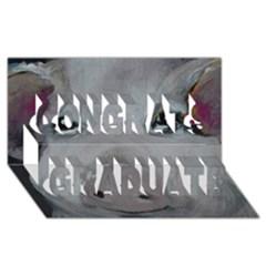 Piggy No. 1 Congrats Graduate 3D Greeting Card (8x4)