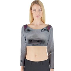 Piggy No. 1 Long Sleeve Crop Top