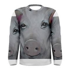 Piggy No  1 Men s Long Sleeve T Shirts