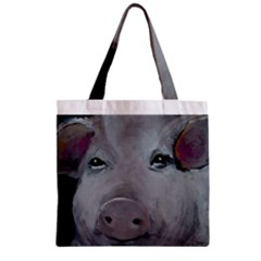 Piggy No  1 Zipper Grocery Tote Bags