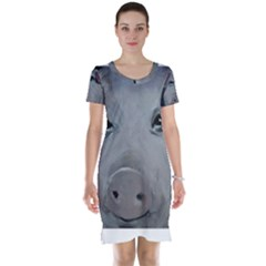 Piggy No. 1 Short Sleeve Nightdresses