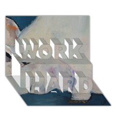 Piggy No  2 Work Hard 3d Greeting Card (7x5)