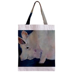 Piggy No  2 Zipper Classic Tote Bags