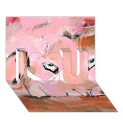 Piggy No 3 I Love You 3d Greeting Card (7x5)