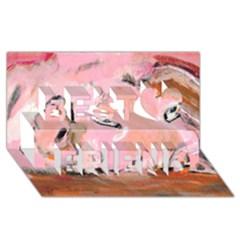 Piggy No.3 Best Friends 3D Greeting Card (8x4)
