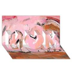 Piggy No 3 Mom 3d Greeting Card (8x4)