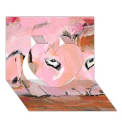 Piggy No 3 Heart 3d Greeting Card (7x5)
