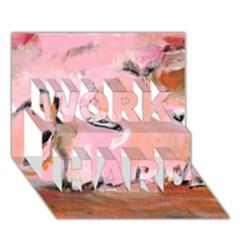Piggy No.3 WORK HARD 3D Greeting Card (7x5)
