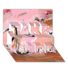 Piggy No.3 TAKE CARE 3D Greeting Card (7x5)