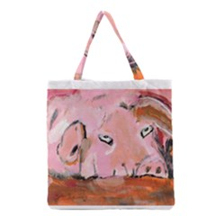 Piggy No 3 Grocery Tote Bags