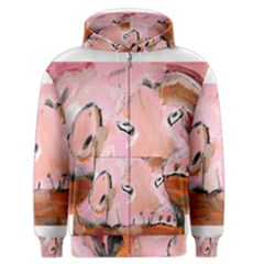 Piggy No.3 Men s Zipper Hoodies