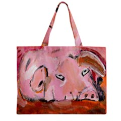 Piggy No.3 Zipper Tiny Tote Bags