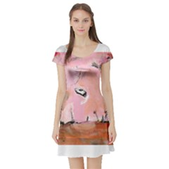 Piggy No 3 Short Sleeve Skater Dresses