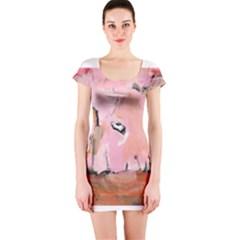 Piggy No.3 Short Sleeve Bodycon Dresses