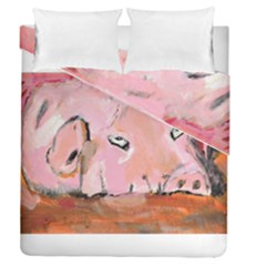 Piggy No 3 Duvet Cover (full/queen Size)
