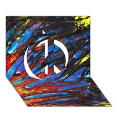 The Looking Glas Peace Sign 3d Greeting Card (7x5)