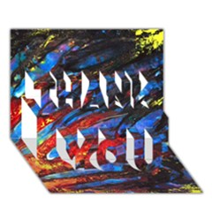 The Looking Glas Thank You 3d Greeting Card (7x5)