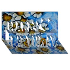 Floating On Air Happy Birthday 3d Greeting Card (8x4)