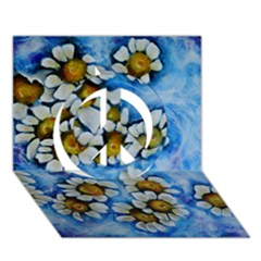 Floating On Air Peace Sign 3d Greeting Card (7x5)