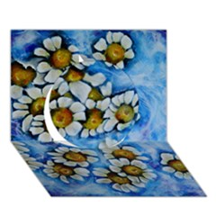Floating on Air Circle 3D Greeting Card (7x5)