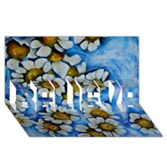 Floating On Air Believe 3d Greeting Card (8x4)