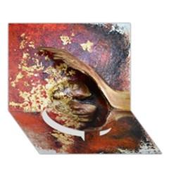 Red Mask Circle Bottom 3D Greeting Card (7x5)