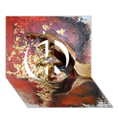 Red Mask Peace Sign 3d Greeting Card (7x5)